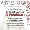 Rocca Imperiale, Il Federiciano – Programma della V edizione del Festival Poetico (Aletti editore)